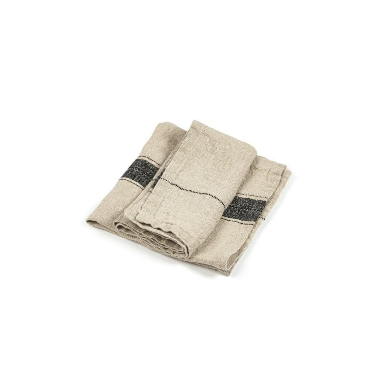 Thompson Napkin Black Stripe 02