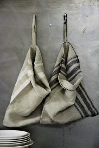 Homespun Linen Kitchen Sack
